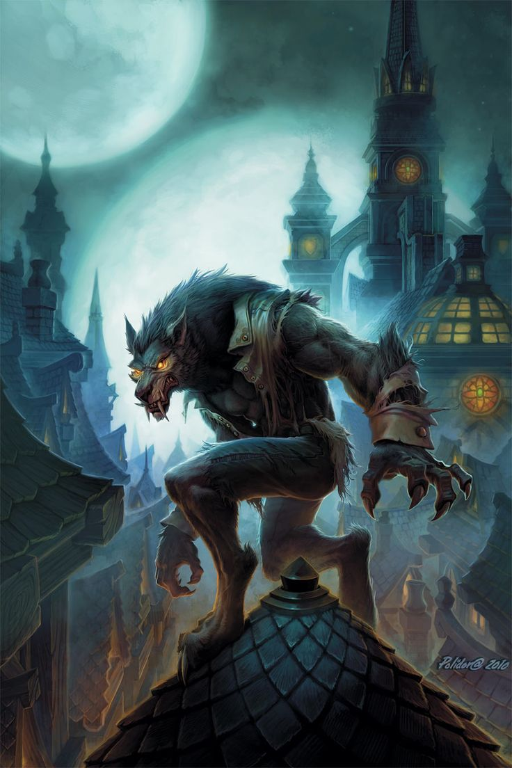 Image d'un Worgen : un peuple de loups-garous monstrueux et anthropomorphiques de l'univers de World of Warcraft - Blizzard