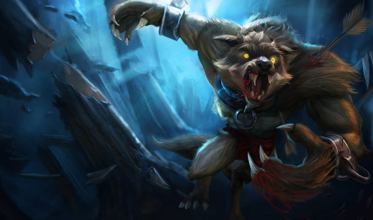 Image de Warwick : le Loup-garou monstrueux et anthropomorphique de League of legends - Riot games