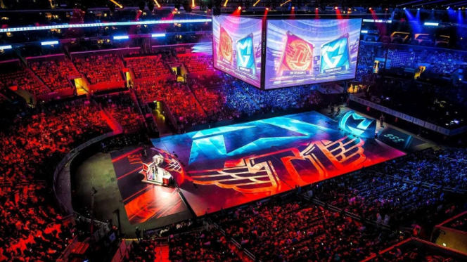 La finale des League of Legends Worlds à l'AccorHotels Arena de Paris